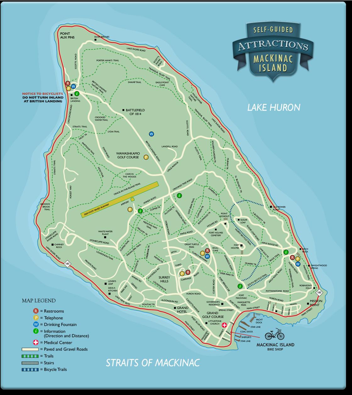 Top 10 Mackinac Island Attractions - MyNorth.com |Mackinac Island Bicycle Cafe