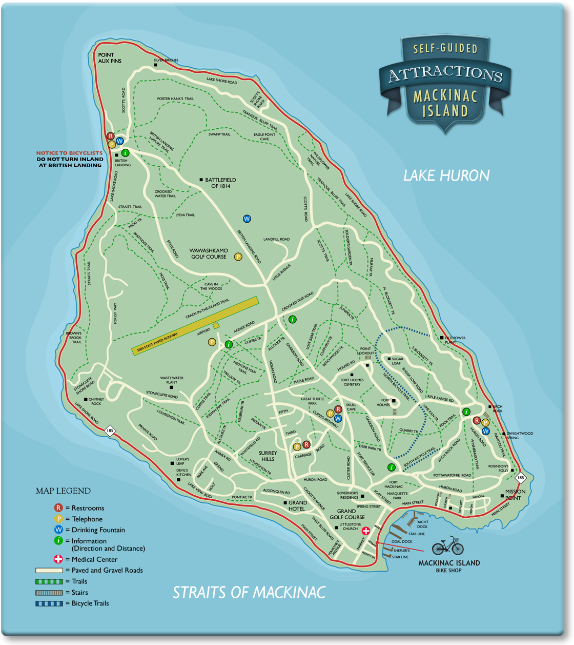 Map Mackinac Island Welcome to Mackinac Island Bike Shop